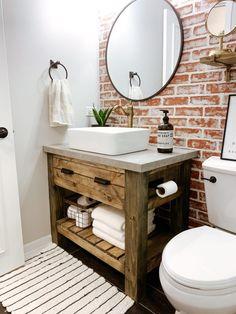 Diy Bathroom Vanity, Rustic Bathroom Vanities, Diy Bathroom Decor, Modern Bathroom, Bathroom Remodeling, Bathroom Organization, Bathroom Fixtures, Bathroom Showers, Large Bathrooms