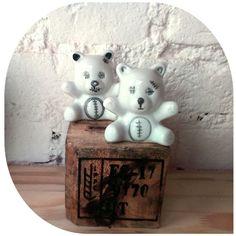 Urso de cerâmica. #andrealourenco