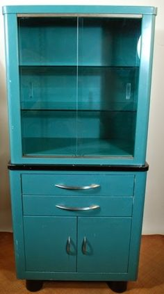 Vintage Industrial Metal Doctor Cabinet. Pink Steel on Etsy. I'd ...