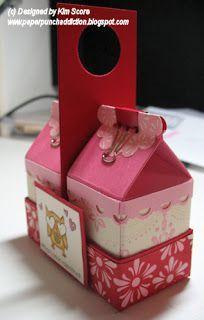 29 Ideas diy box carton stampin up Mini Milk, Milk Box, Paper Gift Bags, Paper Gifts, Milk Carton Crafts, Stampin Up, Diy Gift Box, Gift Boxes, Cute Box