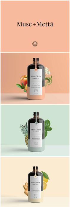 Branding and packaging for Fermented Beverage Kombucha / World Brand & Packaging Design Society