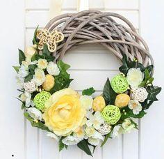 Stylowa kolekcja inspiracji z kategorii Design Easter Wreaths, Grapevine Wreath, Grape Vines, Decoupage, Floral Wreath, Projects To Try, Crafty, Spring, Creative