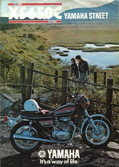 VINTAGE YAMAHA SUNSET IMAGE BANNER NOS IMAGE REPRODUCTION
