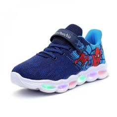 Girls Sneakers, Boys Shoes, Led Light Up Sneakers, Princess Shoes, Spiderman Kids, Lit Shoes, Kids Lighting, Fashion Leaders, Fall Shoes