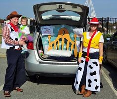 Toy Story for the win | Neverland Nook - Family Halloween Costume - Trunk Or Treat