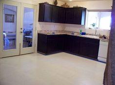 kitchen redo with paint plaster and stencil, countertops, flooring, home decor, kitchen design, White Linoleum