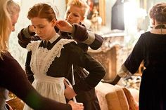 behind the scenes: Maid to measure ... actress Amy Nuttall
