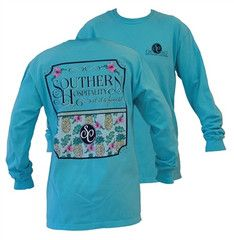 Southern Couture Preppy Southern Hospitality Flower Pineapple Comfort | SimplyCuteTees