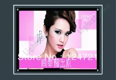 410.00$  Buy now - http://alilv1.worldwells.pw/go.php?t=1158710685 - Frameless Wall Mounted LED Edge-lit Sign,Crystal Lightbox