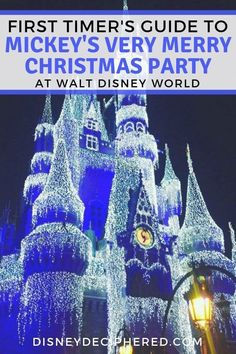 Planning a trip to Mickey's Very Merry Christmas Party at Walt Disney World this year? Don't miss this guide with tips and tricks for first timers. Once Upon a Christmastime Parade, Holiday Wishes fireworks, and the best holiday food and drink. Disney World Resorts, Disney World Tipps, Disney World Parks, Disney World Planning, Disney World Tips And Tricks, Disney Vacations, Disney Trips, Disney Travel, Disney Christmas Party