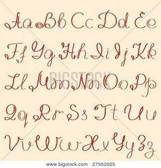 caligrafia abecedario manuscrita - Buscar con Google
