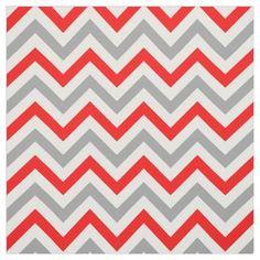 Chevron fabric - very modern print. Grey and red. Modern Master Bedroom, Master Bedroom Design, Chevron Fabric, Grey Fabric, Grey And Red Living Room, Fabric Design, Pattern Design, Red And Grey, Gray