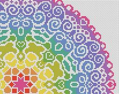 Welcome!  Available here is this complete cross stitch chart which will be made available to you immediately after purchase. Youll be able to download and keep the file.  This gorgeously colourful cross stitch pattern uses bright and complimentary colours for a vibrant and fun project. The design uses whole cross stitches only and is of an easy skill level. 16 count white Aida is recommended for this chart. When stitched it will measure 26.2 cm x 26.2 cm or 10.3 x 10.3 inches. The chart is…