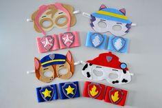 Mascaras infantis no tema Patrulha Canina! Perfeitos para lembrancinhas em  festa infantis. Kit com abe0c3b5c1334
