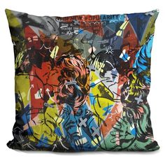Lilipi Popularity Everyone Is Doing It Decorative Accent Throw Pillow, Multi (Velvet)