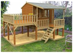 Country Cottage cubby house, australian-made, outdoor playground equipment, diy cubby house kits, cubby houses Kids Playhouse Plans, Backyard Playhouse, Build A Playhouse, Wooden Playhouse, Backyard Playground, Backyard For Kids, Cozy Backyard, Backyard Landscaping, Kids Outdoor Playhouses
