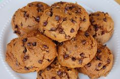 3 Ingredient Pumpkin Chocolate Chip Cookies | Spoonful--we make these all the time so yummy!!