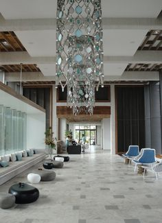 hotel lobby, colours! - Long Beach Hotel - Mauritius