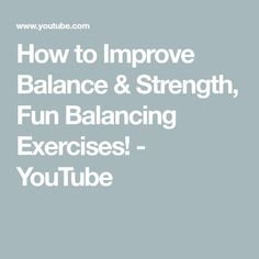 How to Improve Balance & Strength, Fun Balancing Exercises! - Healty fitness home cleaning Health And Nutrition, Health Tips, Stability Exercises, Chiropractic Adjustment, Lose Weight, Weight Loss, Fake Food, Health Logo, Diet Pills