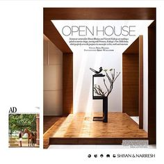 SHIVAN & NARRESH H O M E S | Lyrical open spaces that blend into each other, transforming functions & purpose, punctuated by minimal art - an ode to #modern #minimalism | Discover the first #ShivanAndNarresh Home project featured in @ArchDigestIndia photographed by @BjornWallander | #Interiors #Spaces #InteriorDesign #FashionHomes