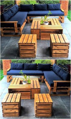 15 Wonderful DIY Pallet Furniture Outdoor That Look Awesome Pallet outdoor furniture ideas The post 15 Wonderful DIY Pallet Furniture Outdoor That Look Awesome appeared first on Lori& Decoration Lab. Pallet Garden Furniture, Outdoor Furniture Plans, Furniture Projects, Diy Furniture, Garden Pallet, Antique Furniture, Furniture Stores, Rustic Furniture, Modern Furniture