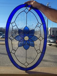 Faux Stained Glass, Stained Glass Designs, Stained Concrete, Stained Glass Projects, Kansas City, Welding Projects, Diy Kitchen, Decoration, Shades Of Blue