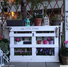 parveke,kuormalava,kukkapöytä,Tee itse - DIY,eurolava