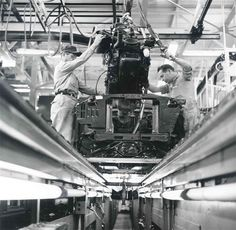 1964 Ford Mustang  Assembly Line .California Plant..