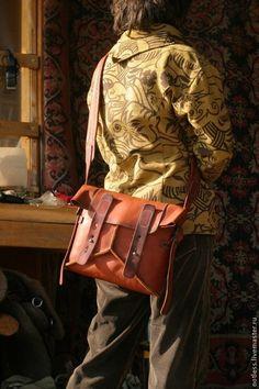 Купить сумка b4 - коричневый, урбантрип, Сталкер, постапокалипсис, стимпанк, ретрофутуризм, кожа