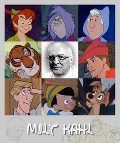 Milt Kahl - Disney Wiki, Walt-Disney-Animators-Milt-Kahl-walt-disney-characters-