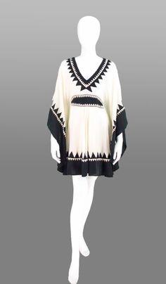 Temperley London ethnic chiffon caftan dress