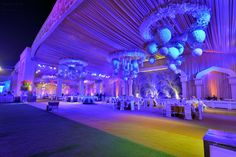 Are you looking for wedding decor in some traditional shades? Here is a beautiful yellow wedding decor with a touch of magenta pink elements! Yellow Purple Wedding, Yellow Theme, Purple Wedding Decorations, Stage Decorations, Purple Wisteria, Floral Chandelier, Black Vase, Pink Garden, Orange Background