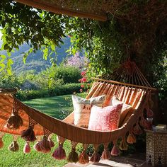 ❥ boho chic hammock from One Kings Lane