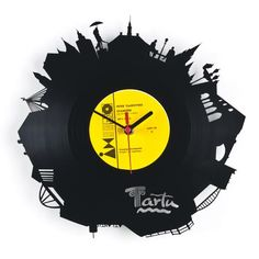 "RE_VINYL wall clock ""TARTU"""