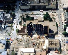 Was working directly 1/2mi E. at what is currently the Oklahoma City Commerce bldg.  The event was quite a shake.  Oklahoma City collected data and notes of history - pic of Oklahoma Murray Building Bombing - Oklahoma City - Familypedia