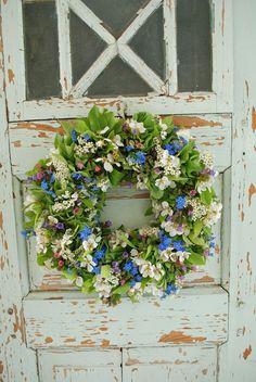 wonderful flower wreathed door.