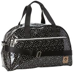 Roxy Juniors Make Way Allover Printed Coated Canvas Overnighter Bag, Black, One Size Roxy. $47.70. Leather logo patch. Hand Wash. 100% Coated Canvas. With removable shoulder strap and metal coil zippers. Save 31% Off!