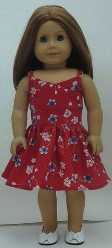 Red WrapTop Style Sundress For American by AngelKissesBoutique, $19.99