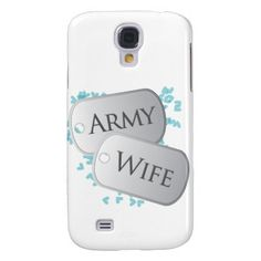 Army Wife Dog Tags Galaxy S4 Cover #military #deployment #army #armywife #usa #patriotic #supportourtroops