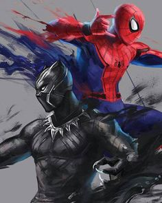 Spiderman and Black Panther the two new avengers Hero Marvel, Marvel Dc Comics, Batwoman, Nightwing, Black Panther Marvel, Black Panther Art, Marvel Wallpaper, Man Wallpaper, Marvel Characters