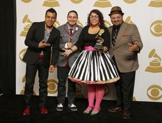 """La Santa Cecilia, a band from Los Angeles that has been called """"the voice of immigrants,"""" won a Grammy Sunday night. 