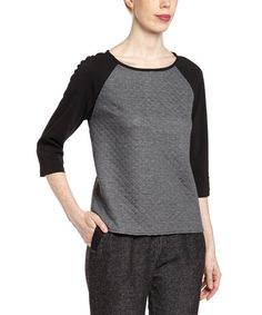 Look at this Charcoal Melange Bianca Top on #zulily today!