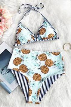 Cupshe Call Me Pineapple Reversible Bikini Set