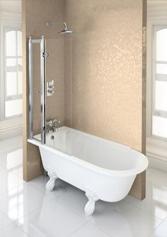 Image for Burlington Hampton Shower Bath LH Freestanding - 1500x 750mm