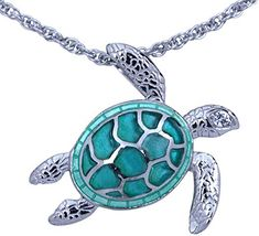 Check out the deal on Guy Harvey Sea Turtle Necklace Enameled & Crafted in Sterling Silver with 18 Inch Adjustable Chain at Guy Harvey Jewelry Sea Turtle Jewelry, Turtle Earrings, Tiny Earrings, Body Jewelry, Fine Jewelry, Women Jewelry, Chain Jewelry, Fashion Jewelry, Women's Fashion