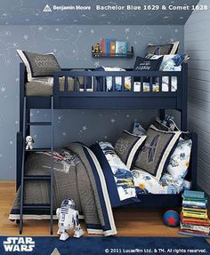 Ry Recently Changed His Mind To A Star Wars Room Instead Of Spiderman.  Little Boy Shared Star Wars Room  Pottery Barn I Like The Bed BUT I Dont  Like The ...