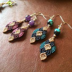 Macrame earrings                                                                                                                                                                                 Más