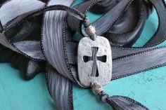 Sideways Cross Ribbon Bracelet