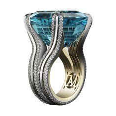 @alexandramornyc intense aquamarine ring