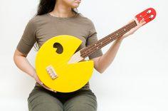 Pac Man ukulele  (paculele). $600.00, via Etsy.